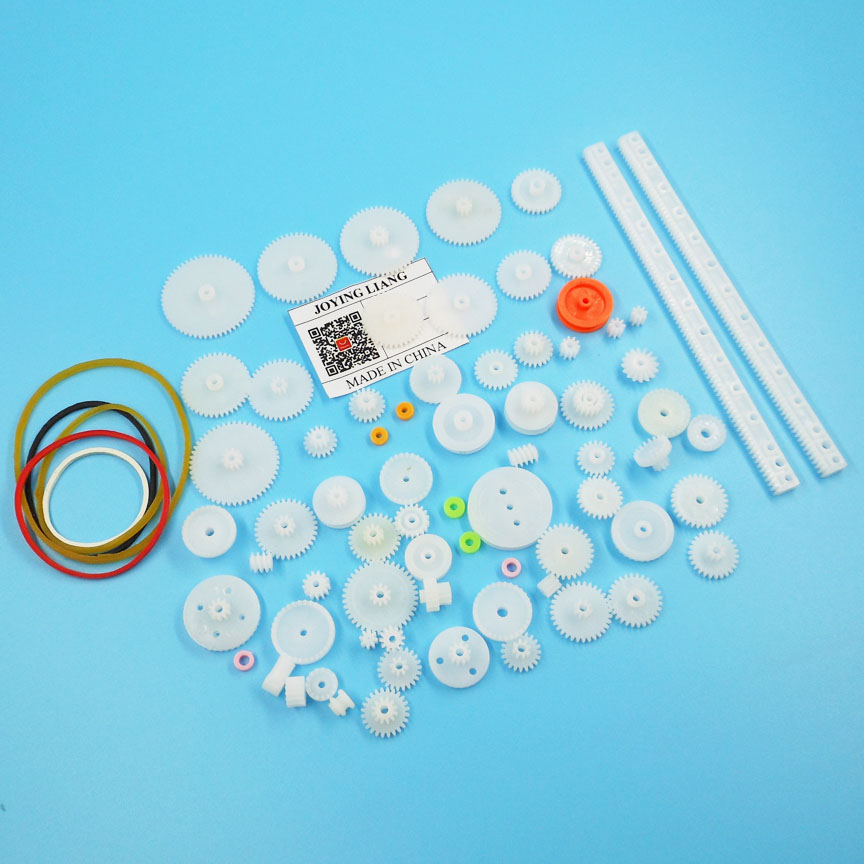 Mixed 75pcs Gear Bag Kinds Of Plastic Gear Bag Technology Making DIY Model Toy Car Model Boat Model Robot Assembly Accessories