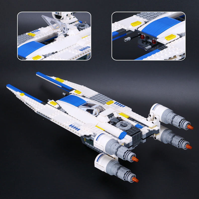 679Pcs LEPIN 05054 Rebel U Wing Fighter Jets Figure Blocks Compatible Legoe 75155 Construction Building Toys For Children lepin 562pcs building blocks toy tie fighter diy assemble figure educational brick brinquedos for children compatible legoe