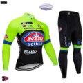 Pro мужские зимние комплекты одежды для велоспорта ITALIA, велосипедная майка 9D с подкладкой для велоспорта, Длинные MTB шоссейные велосипедные н...