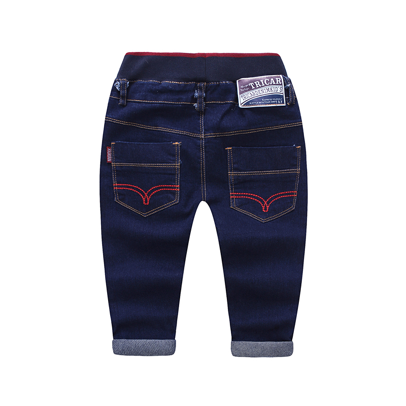 Boy solid color boys jeans elastic waist kids casual pants denim pants for boy child baby trousers