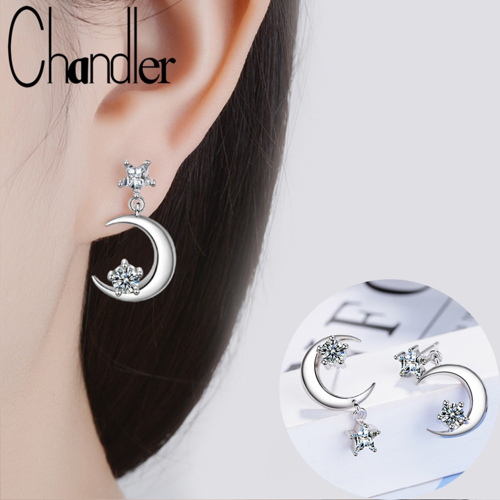 Or//Argent Strass Fashion Dangle Boucles d/'oreilles Cristal Clous D/'oreilles Drop Stud
