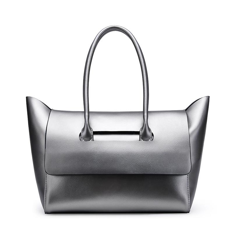 2018 Genuine Leather Women Bag Luxury Handbags Women Bag Designer Leather Women Shoulder Messenger Bag Casual Tote luxury designer genuine leather pearl studded padlock bag women shoulder bag