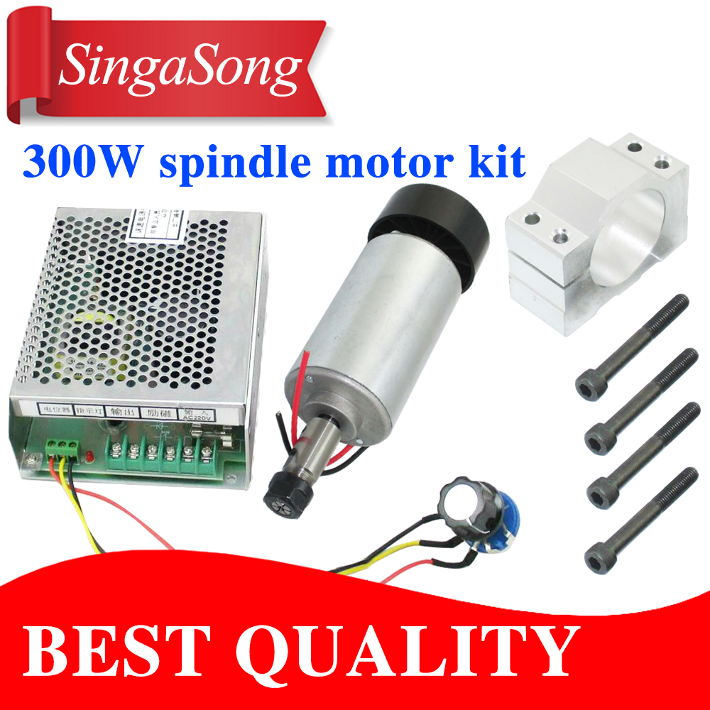 TOP 0.3KW cnc spindle motor 300W spindle motor DIY dc 12-48 cnc 300w spindle motor for PCB milling machine free shipping 500w er11 collet 52mm diameter dc motor 0 100v cnc carving milling air cold spindle motor for pcb milling machine