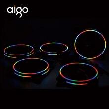 Aigo D1 120 мм Корпус Вентилятор охлаждения светодиодный для компьютера 12 В Вентилятор охлаждения двойное кольцо легко установить хорошую цену съемный игровой вентилятор
