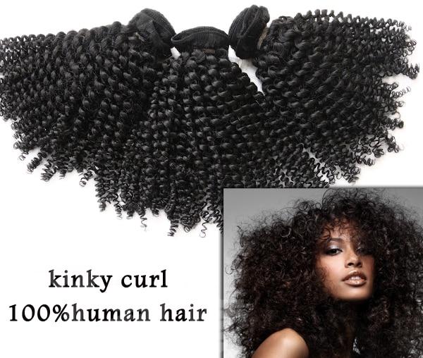 Natural Black 5a Grade Brazilian Kinky Curly Virgin Hair