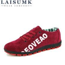 LAISUMK 2019 New Fashion Canvas Shoes For Men Low Style Comfortable Denim Mens Lace up Flats Casual Man Summer