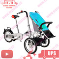 Cochecito de Bebé Cochecito Carro chico con Los Pies resto Luz Bicicleta Taga Cochecito 3 en 1