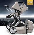 Alta calidad!! strollerwith babysing elevadas de lujo bebé capazo, 2 en 1 sistema de viaje, X-GO cochecito/cochecito de niño, de alta calidad!