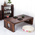 Simples mesa de computador de madeira Paulownia Japonês tatami Antiga Literatura Chinesa plataforma windows