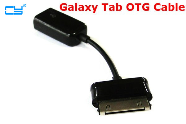 Samsung Galaxy Tab 10.1 P7500 P7510 P6200 P6800 P3100 P5100 P7300 P7310 30Pin to USB Female OTG Cable for Flash Disk Black 10CM
