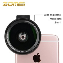 ZOMEI Clip 0.6X Wide Angle&Macro 2in1 Camera Lens Filter for iPhone Samsung