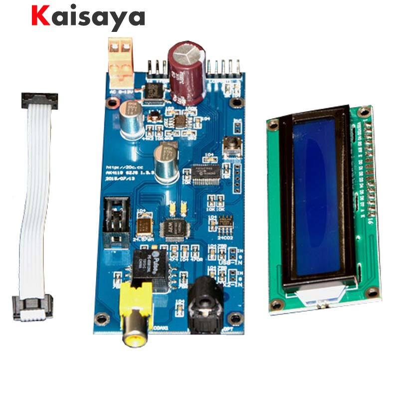 AK4118 digital receiver board module SPDIF AES turn I2S Sampling rate with LCD display Up to 24 192 G3-013 цены