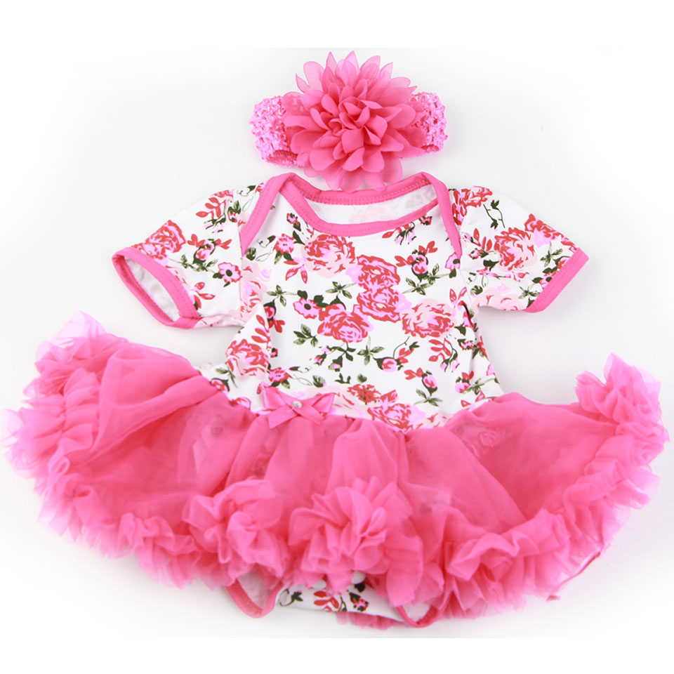 Handmade Baby Doll Accessories Design for 20 -22 inch Reborn Baby Doll Rose Pink Dress with Headdress Girl Doll Clothes Sets american girl doll clothes halloween witch dress cosplay costume for 16 18 inches doll alexander dress doll accessories x 68