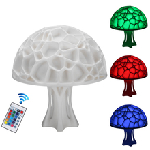 Creative 3D Mushroom Night Lights 16 color lights USB rechargeable LED light Bedside Lamps for kids gift Home wedding Decoration