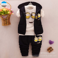 2016 Cartoon 1 4 Years Old Kids Clothing Sets Baby Boys And Girls Casual Clothes Children