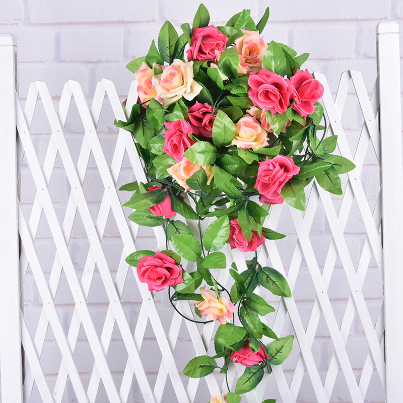 10 PC/Lot Artificial Silk Rose Ivy Leaves Flower Vine Home Decor Party Wedding  Decoration Mariage Fake Artificial Plants