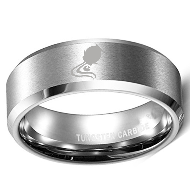 56a21f323f1b 8mm Custom Aquarius Zodiac Horoscope Laser Ring Tungsten Metal Men s  Wedding Band in Comfort Fit and Matte Finish Size 8 to 13