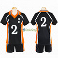 Haikyuu!! No. 2 Sugawara Koushi Jerseys Esportes Unissex camiseta Uniforme Karasuno High School de Vôlei Clube Traje Cosplay anime