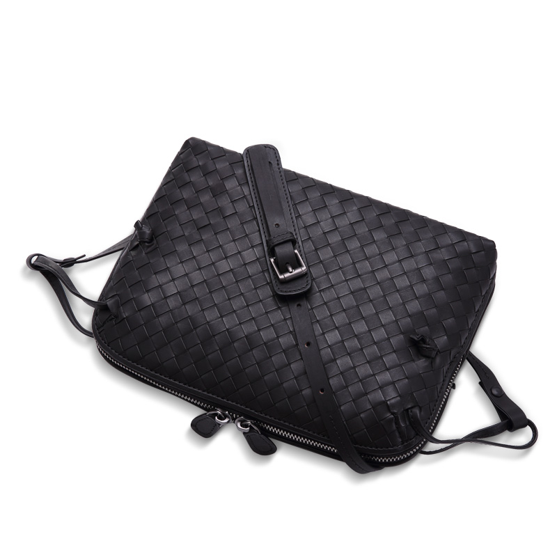 59f5669320 Europe and the first layer of leather woven bag bag leather making small  bag 2018 new single shoulder bag lady-in Top-Handle Bags from Luggage   Bags  on ...