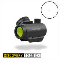 Discovery red polka dots 1X25 DS holographic optical sight tactical rifle for hunting scope collimator for Fit Picatinny 20 mm