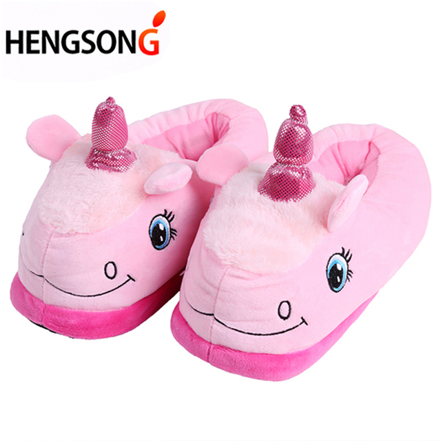 New Winter Indoor Slippers Plush Home Shoes Unicorn Slippers for Grown Ups Unisex Warm Home Slippers Shoes 4 Types PA986740