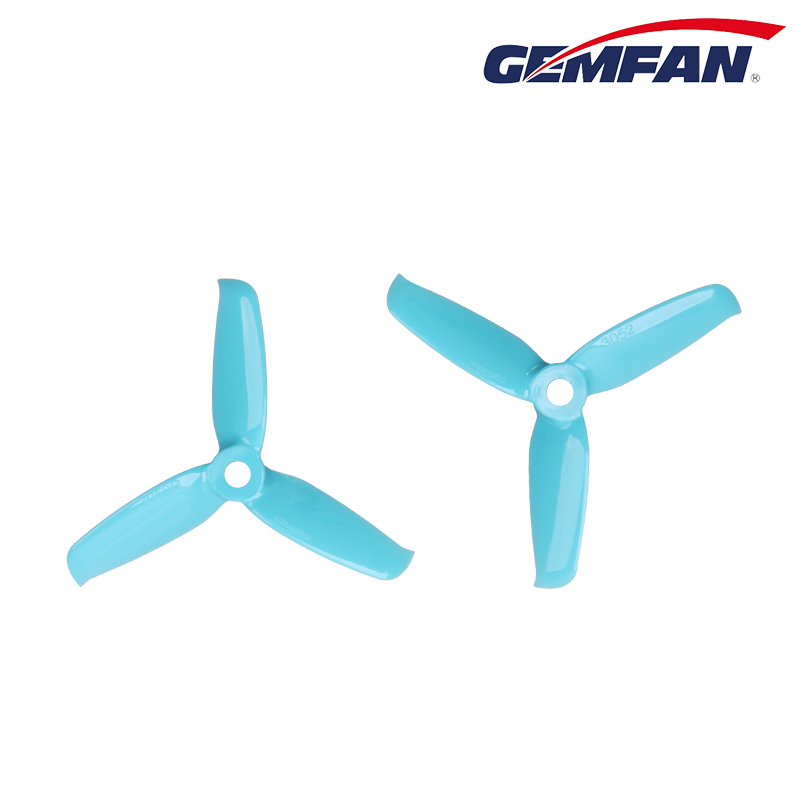 4pcs/2pairs Gemfan 3inch <font><b>3052</b></font> 3 Bades tri-blade Propeller compatible 1306/1806 motor for FPV mini 130mm quadcopter frame kit image