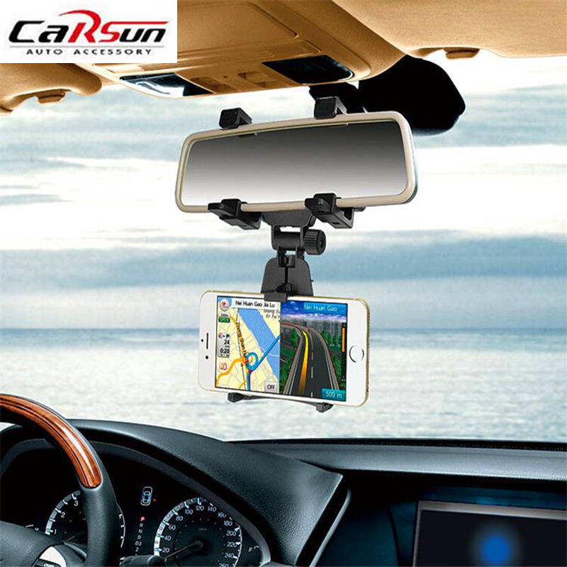 Car Rear View Mirror GPS Phone Holder Mount Multi Functional car accessories Cell Phone Stand Bracket Tablet Phone Holder