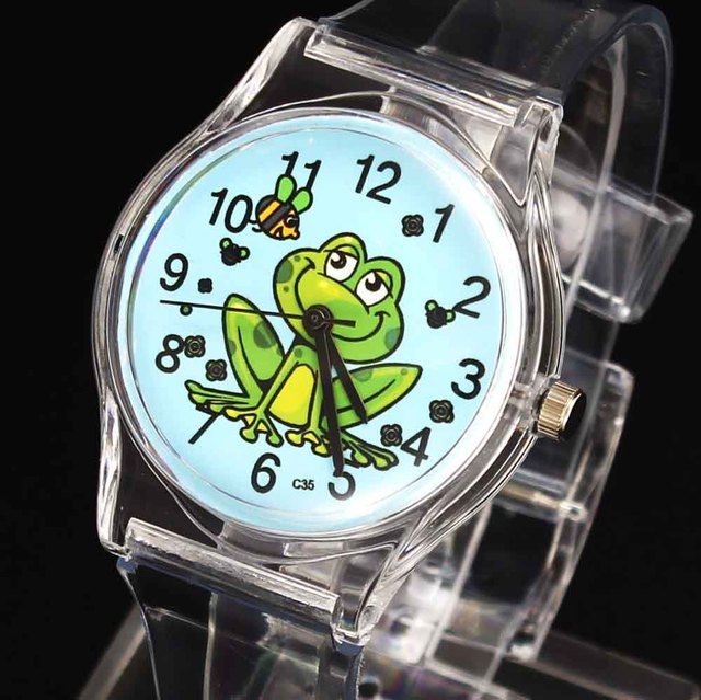 Frog Prince Bee Kids Children Cartoon Quartz Watch Baby Boy Girl Sport Unisex Tr