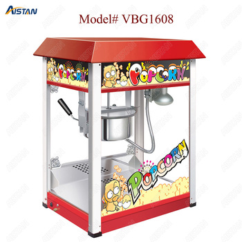 VBG1608 commercial automatic electric popcorn machine maker with big volume 8oz series 1