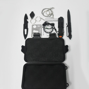 9 in 1 Outdoor survival kit emergency bag field survival box self-help box SOS equipment for Camping Hiking  free shipping 3