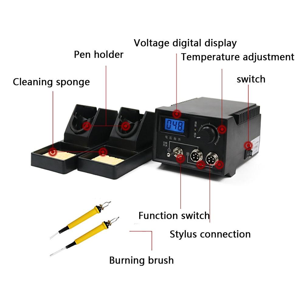 220V Soldering Iron Tool Pyrography Machine Digital Display Wood Burning Soldering Irons Crafts Tools Machine Kit Set 60W