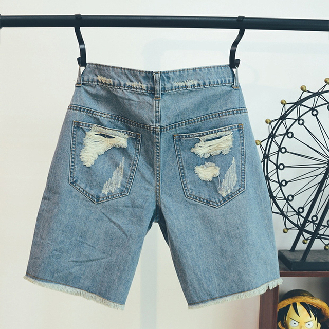 Pattern Jean Shorts  2