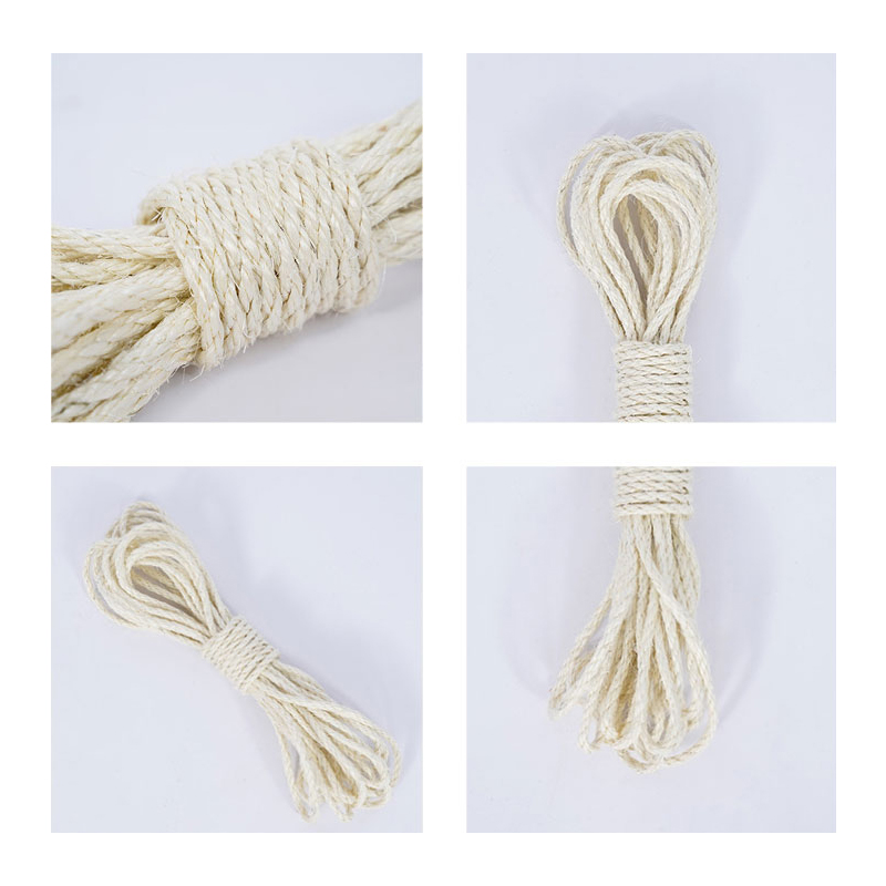 6mm Sisal Rope For Cats Scratching Post Toys Making Diy Desk Foot Stool Chair Legs Binding Rope Material For Cat Sharpen Claw #2