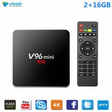 Vmade Google TV Box V96 2G 16GB Smart Android 7.1 Allwinner H3 Quad Core 1.5GHz WiFi Netflix IPTV Media Player Receiver