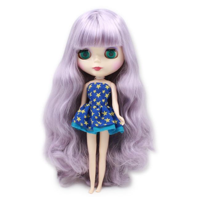 ICY Neo Blythe Doll Light Purple Hair Regular Body