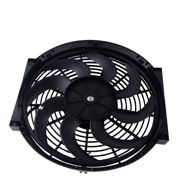 "PQY - 14"" inch Universal Slim Fan Push Pull Electric Radiator Cooling 12V 90W Mount Kit PQY-FAN14"