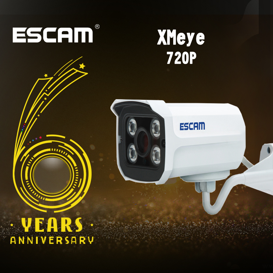 Escam Brick QD300 Mini Camera HD720P IR Bullet H.264 CMOS IP Camera 3.6mm Lens Onvif Night Vision P2P 1.0MP Security Camera escam hd3100 ir ip security camera