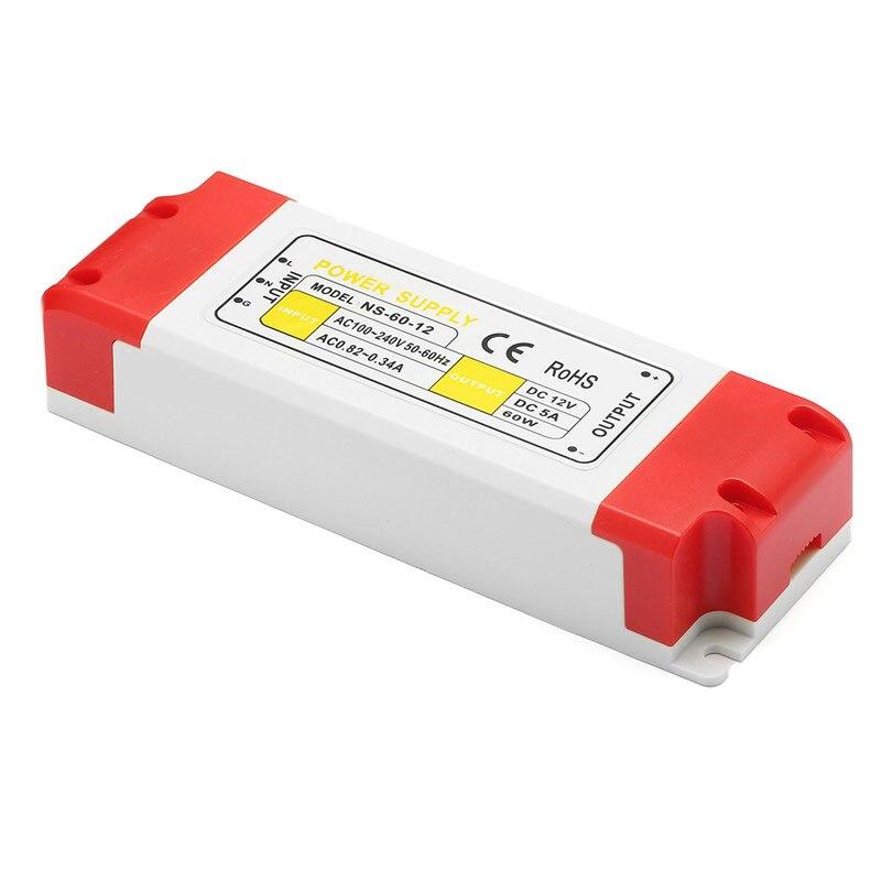 цена на For LED Strip Light Bulbs AC100-240V To DC 12V LED Driver Power Supply Adapter Transformer 12/24/36/48/60W