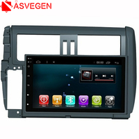 Asvegen Audio Video Player 9'' Android 6.0 Quad Core Car Navigation System Stereo Bluetooth Multimedia For Toyota Prado 2010