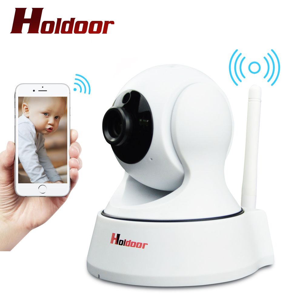 где купить Holdoor 720P HD IP Camera Wifi Wireless CCTV Camera Home P2P Security Surveillance Two-Way Audio Support 64G SD Card по лучшей цене