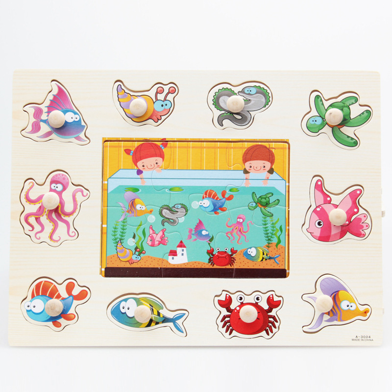 Zoo Animals Wooden Puzzles For Children 2 4 Years Old 3d