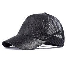 a0fbf9fc47204 2018 nueva gorra de béisbol de cola de caballo para mujer gorra de Color  sólido moda desordenado Bun gorra de béisbol para niñas.
