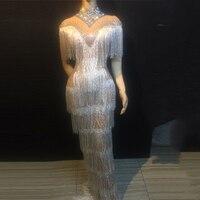 Со стразами; платье с бахромой Для женщин вечернее платье День рождения, празднование кисточкой платье для ночного клуба обувь Для женщин п