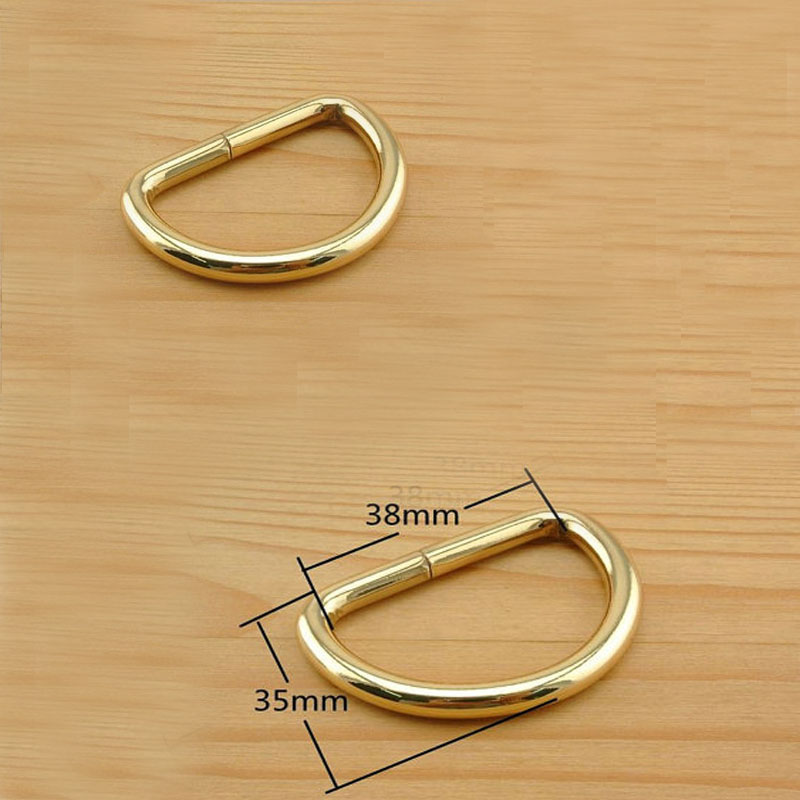 Metal Ring 40 Pieces 1.5 Inch (38mm) Gold 5mm Thinckness Heavy Duty Strap D Ring