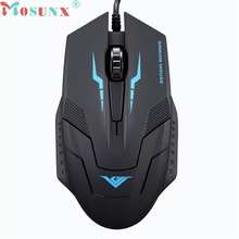 mosunx Mecall Tech Black 1600 DPI 3 Button Optical USB Wired Gaming Mouse Mice For PC Laptop