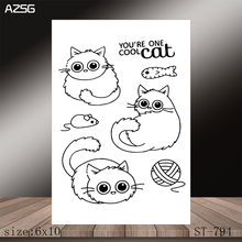 AZSG Kitten Clear Stamps/Stamp/For Scrapooking/Card Making/Silicone Stamps/Decoration  Crafts