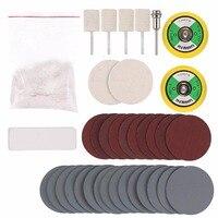 Cerium Oxide Powder 2Pcs Backing Pad 2Pcs Wool Felt Polishing Wheel 4Pcs Polishing Pad 30Pcs Sanding