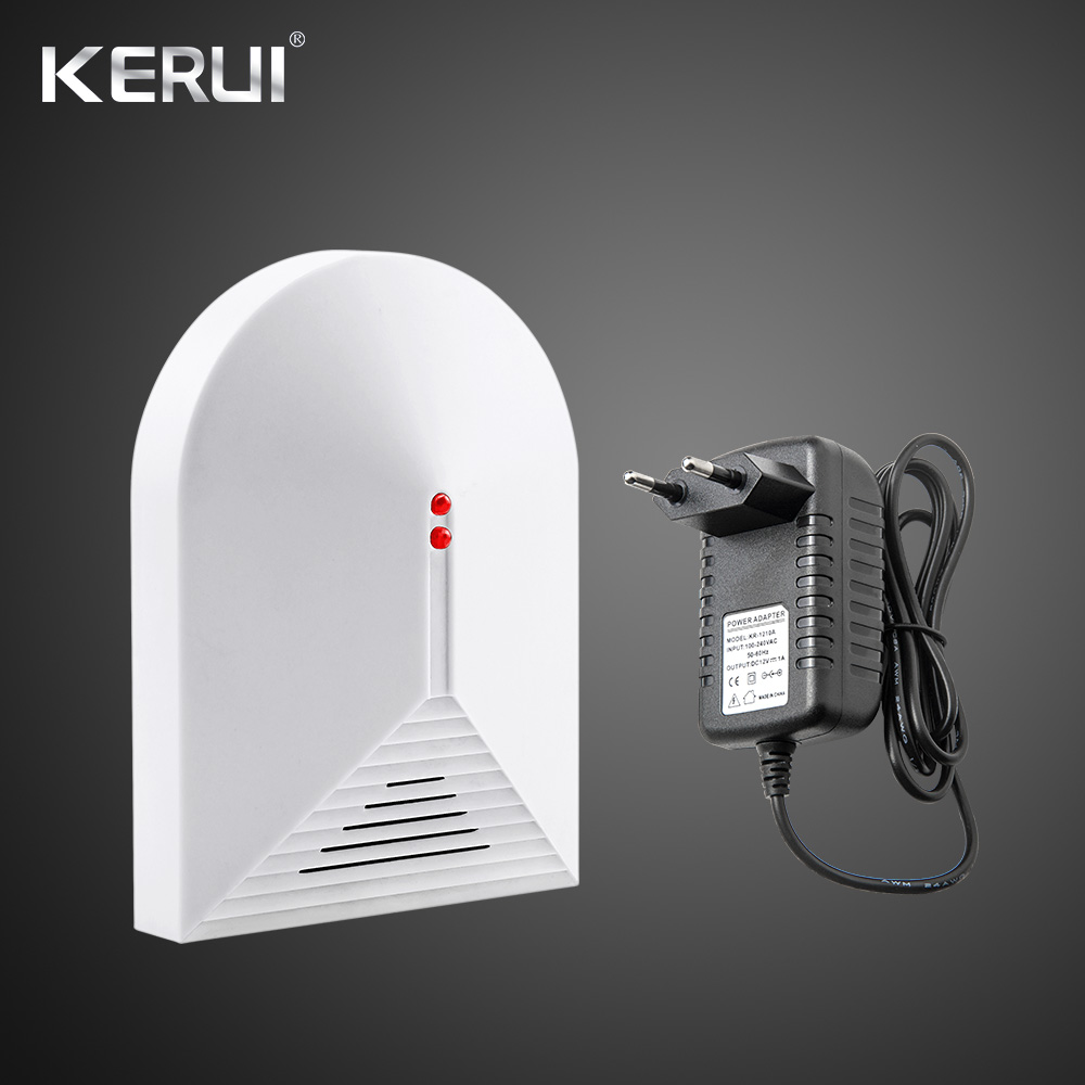 Wireless Glass Break Detector Sensor For Home Burglar Security Alarm Adjustable Sensitivity With Power Adatper