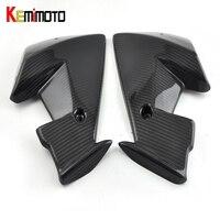 KEMiMOTO For Yamaha MT 07 MT07 Wind pocket twill weave Real Carbon Fiber FZ 07 MT 07 2013 2014 2015 2016