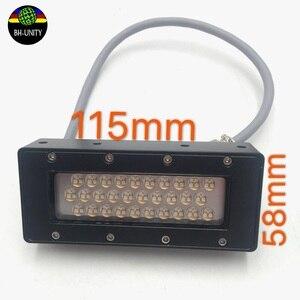 395нм светодиодная УФ-лампа 220 В принтер ультрафиолетовая лампа 115*58 мм UV Led Lghting для UV Led планшетный принтер для сушки чернил